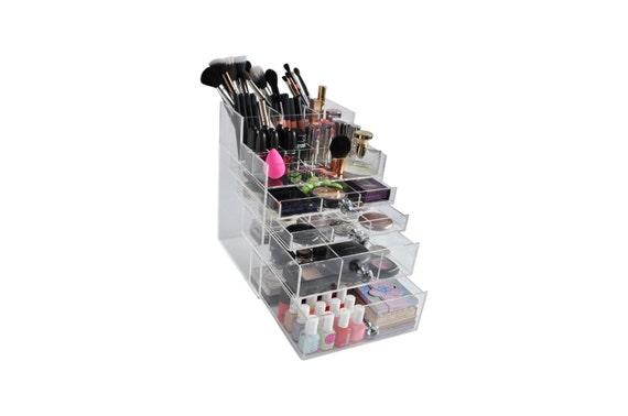 Clear Acrylic Makeup Organizer GlitzBox Brush Holder By