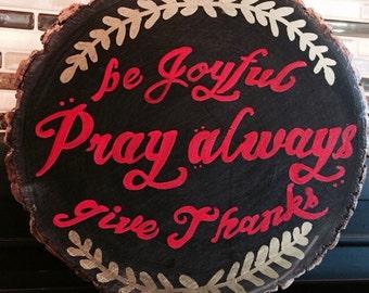 Rustic Joyful Prayer Sign