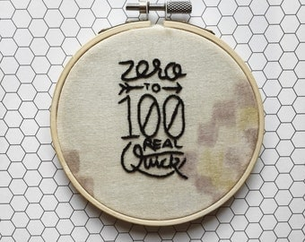 Zero to Hundred Real Quick Handmade Embroidery Hoop