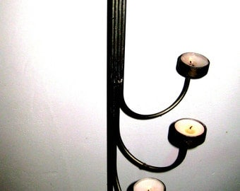 OLD candle holders Germany candle holder metal iron candelabra candle holder 1970 design chic nostalgia