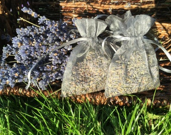 30 Lavender Organza Bags Silver or Gray - Wedding and Bridal Shower Favors