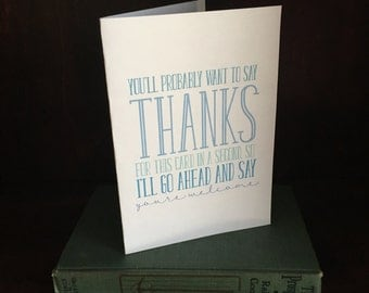 Thanks for this card greeting card