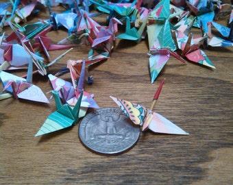 100 Floral Print Origami Cranes