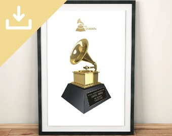 DL - Grammy Award Personalised Poster