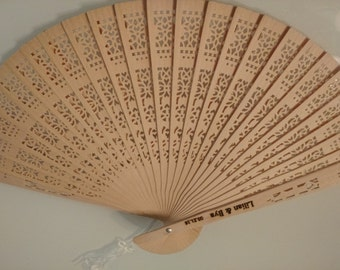 Set of 10 - Personalized wooden hand fans//Bridesmaids gifts// Wedding Favor//bachelorette favor//Birthday Party favor