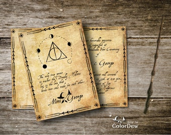 Harry Potter Magical World Digital Wedding Invitation