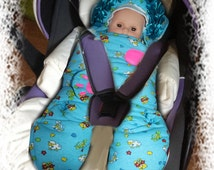 Baby Hooded Car Seat fitted blanket/Baby blanket