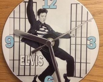 ELVIS JAILHOUSE ROCK Cd Clock (Can be Personalised)