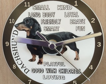 Dachshund Dog Breed, Sausage Dogs, CD Clock (Can be Personalised)