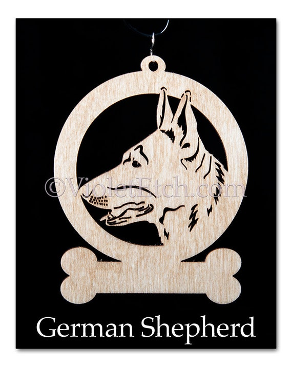 German Shepherd Ornament-German Shepherd Gift-Free Personalization