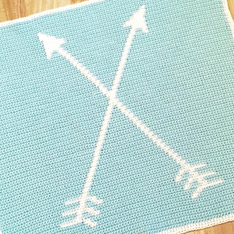 Graphghan Pattern Crochet Arrow Baby Blanket By Amandasafghans