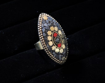 Tribal Nepali Statement Ring
