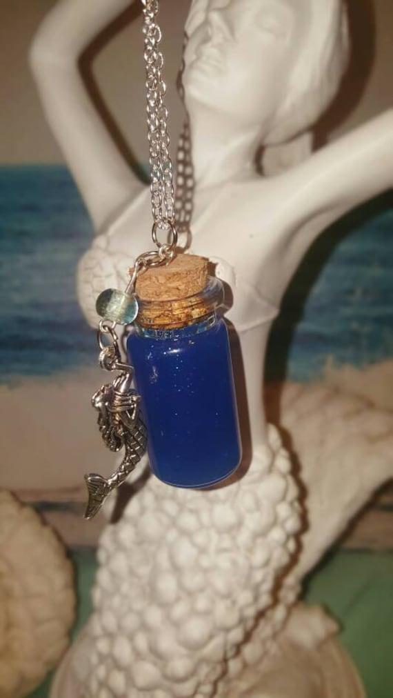 Mermaid Tears Bottle Necklace