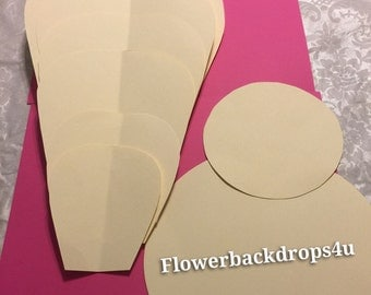 Paper flower template backdrops with simple instructions DIY