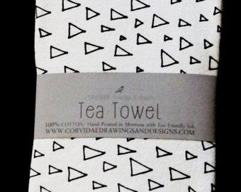 Triangle Tea Towel/Flour Sack Towel, 20x32