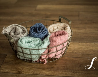 Newborn Cheesecloth Wrap : One wrap, Newborn Photo Prop, Newborn Wrap