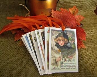 Halloween, Halloween Tags, Tags, Gift Tags, Vintage Halloween, Vintage Tags, Halloween Labels, Assorted Vintage Tags