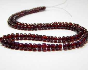 Garnet Rondelle beads 100% Natural Gemstone Size 6x4.mm Approx Code - 0463