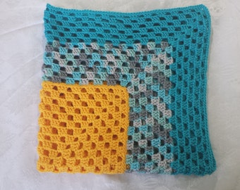 Yellow and Blue Baby Blanket