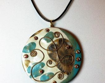 Scrolls Pendant Necklace