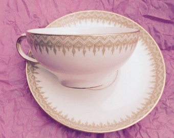 William Guerin Limoges Cup and Saucer