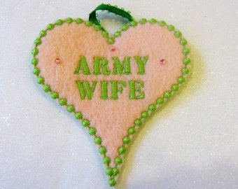 Army Wife Christmas Ornament Army Christmas Ornaments Military Ornament