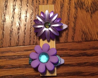Jeweled Flower Baby Barrettes