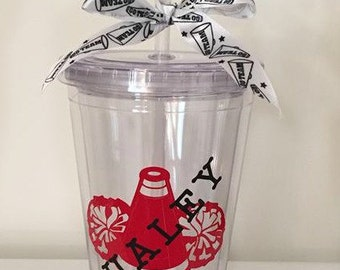 Monogrammed Cheer Tumbler Cup, Personalized Gift, Cheer Tumbler, Cheerleading Gift, Cheerleader, Cheer Coach Cup, Cheer Coach Gift
