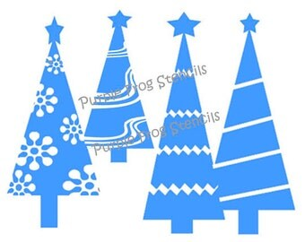 Christmas Trees STENCIL (Reusable)Different Sizes Available