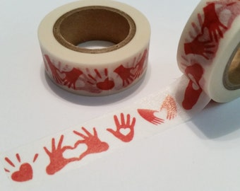 Heart Hands Washi Tape