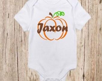 Fall Pumpkin with Name, Shirt, Autumn, Thanksgiving, Customizable
