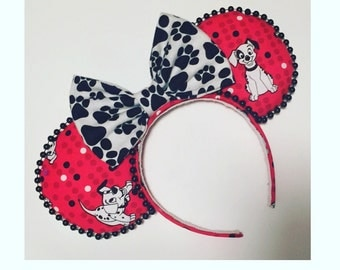 101 Dalmations Mickey Ears, Inspired 101 Dalmations Ears, Puppy Mickey Mouse Ears, Dog Mickey Ears, 101 Dalmations Minnie Mouse Ears