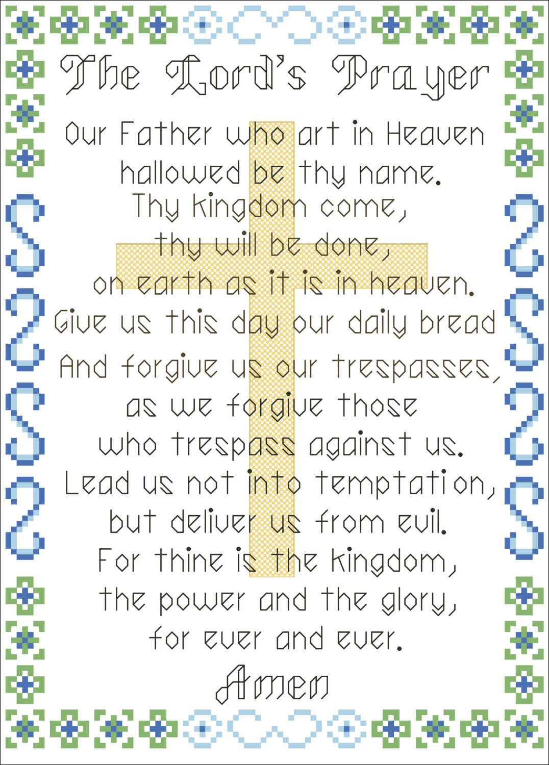 It's just an image of Old Fashioned The Lord's Prayer Printable