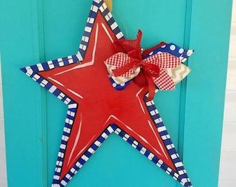 Wooden Star Doorhanger
