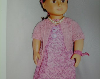 "Pink summer frock for 18"" doll"