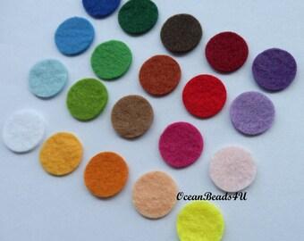 100 Felt Circles (color/size free choice)