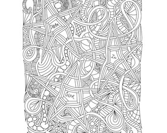 Adult Coloring Page Dream In Color For Stress Relief Relaxation Creativity