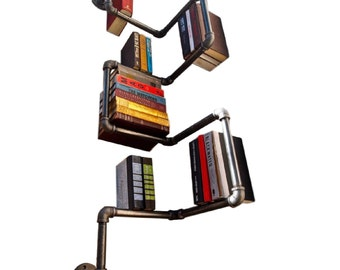NEW: FULLY ASSEMBLED Industrial Urban Style Galvanized Steel Pipe Shelf Shelving Storage