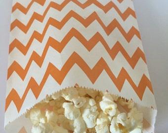 Orange  Popcorn Bags -25 Bags