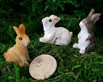 Miniature Bunnies - Set of 3