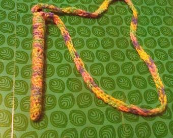 pen holder crochet necklace