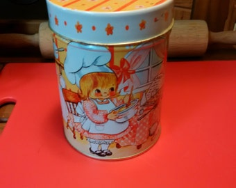 1985 House of Lloyds 3 piece tin canister set