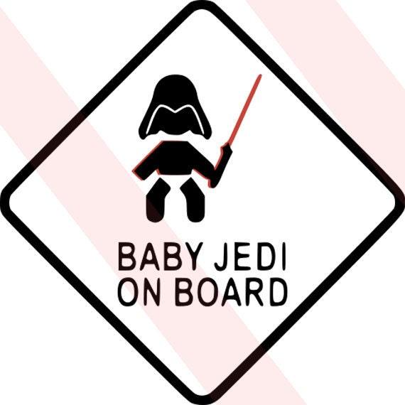 Baby Jedi Baby On Board Combo Pack Scan N Cut Cricut