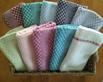 Extra Large Handwoven Tea Towels (natural fibers - 100% cotton) - Many colors available