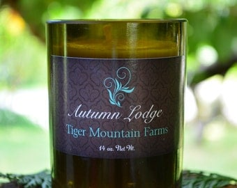 Autumn Lodge Organic Beeswax Candles in Upcyled Glass