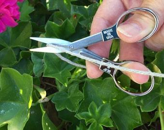 Slip-N-Snip Regular Blade Folding Scissors Chrome Scissors, Craft Scissors Mini Scissors Portable Scissors Garden Scissors, Made in the USA