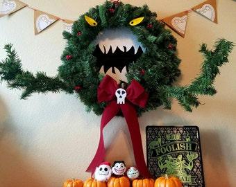 LARGE Nightmare Before Christmas inspired Man Eating  Wreath