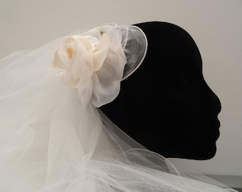 Apricot Rose Head Piece/Wedding Hair Accessories