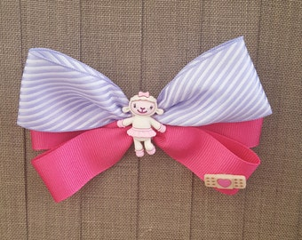 Disney Junior Inspired Doc McStuffins Hair Bow