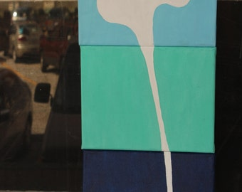 3 Set 8x10 Canvas Whale Squirting Water